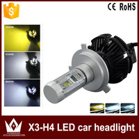 Super Bright Car Headlights H4 50w 6000lm H7 H11 H13 9005 HB4 9004 High Dipped Beam