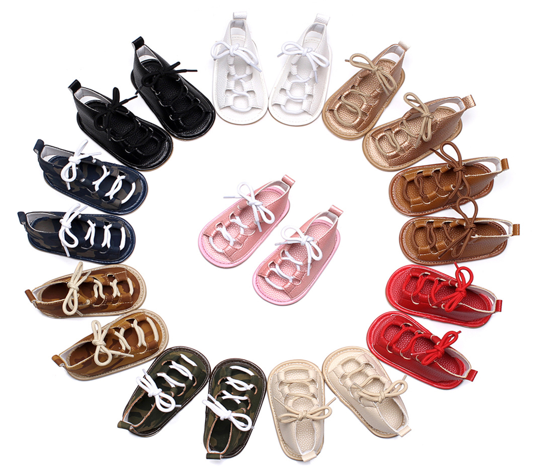 New Baby Summer Shoes Girls Boys First Walkers Rubber Soled Non-slip Toddler Summer Shoes Cute Baby Moccasins