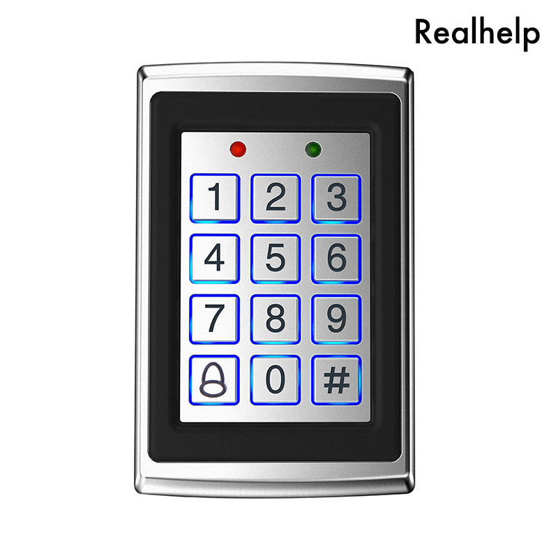 8000 Users Metal Case Keypad Access Controller with Backlight  Single Door Control Independent Code Access Device Digital