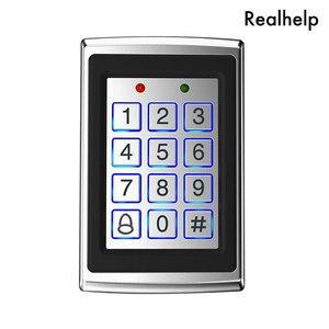 Image 1 - 8000 gli utenti di Cassa del Metallo Tastiera di Controllo di Accesso con Retroilluminazione Porta Singola di Controllo Indipendente di Codice Dispositivo di Accesso Digitale