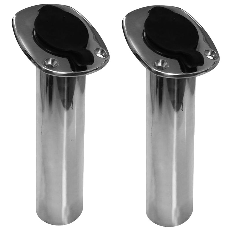 2X 30 Degree Stainless Steel Flush Mount Fishing Rod Holder Boat Rod Holders For Marine Boat Yacht Accessories