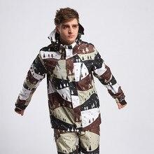 2017 Waterproof Ski Suit for Men Winter Snowboard Jacket Warm Snow Ski Pants Outdoor Sport Mountain Skiing Skiwear