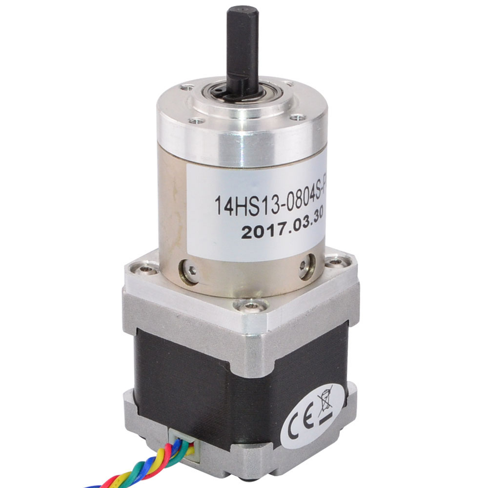 51:1 Planetary Gearbox Nema 14 Gear Stepper Motor Extruder 4-lead 0.8A Nema14 Step Motor for CNC 3D Printer 0 9 step degree nema14 round stepper motor with 8 8n cm 12oz in length 20mm ce cnc step motor
