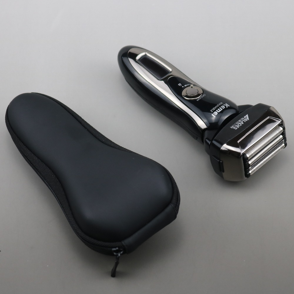Image 4 - Men's professional 4 blade shaver rechargeable electric shaver for men beard face electric razor shaving machine+travel bag-in Electric Shavers from Home Appliances