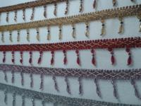 Wholesale Curtain Lace TASSEL EAR Lob Edge Row To Be Crystal Pumpkin Beaded Lace Accessories 14
