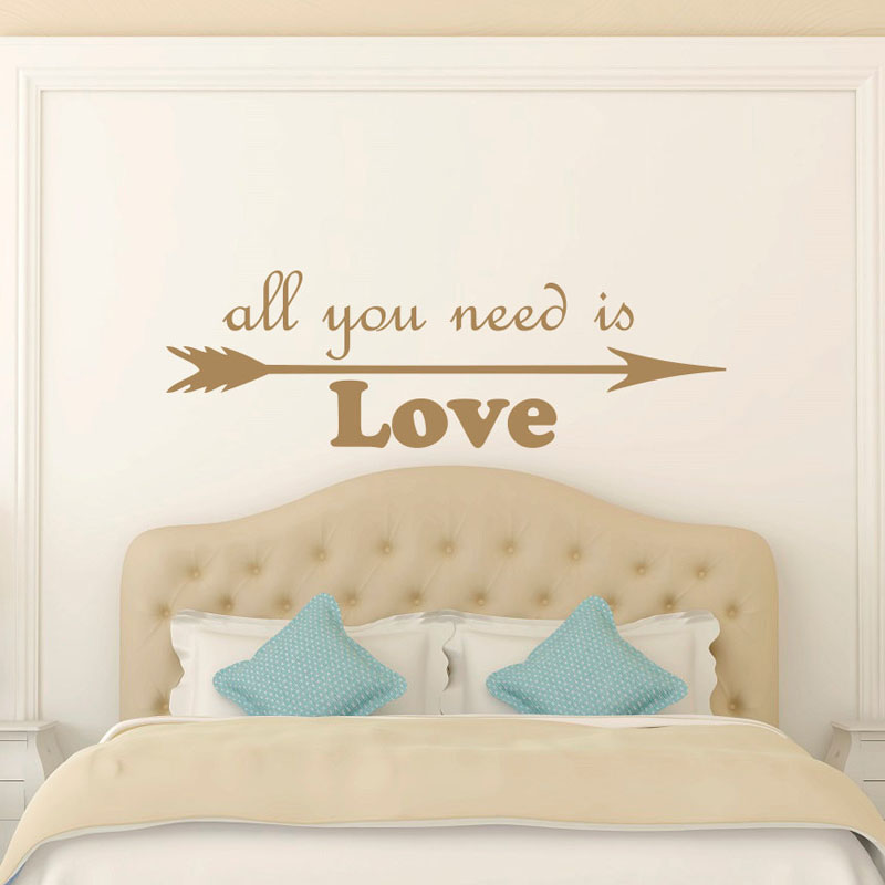 All You Need Is Love Arrow Wall Stickers Bedroom Home Decor Creative Wall Decals Art Vinyl Wall Decoration