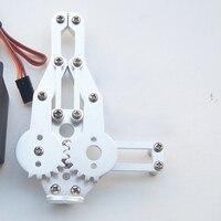 משלוח חינם 1 Set 2 ערכת DOF אלומיניום רובוט זרוע קלאמפ Claw הר (אין סרוו) Fit un-ההרכבה לarduino