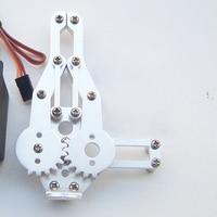 무료 배송 1 set 2 dof 알루미늄 로봇 암 클램프 클로 마운트 키트 (서보 없음) arduino 용 un-assembly fit