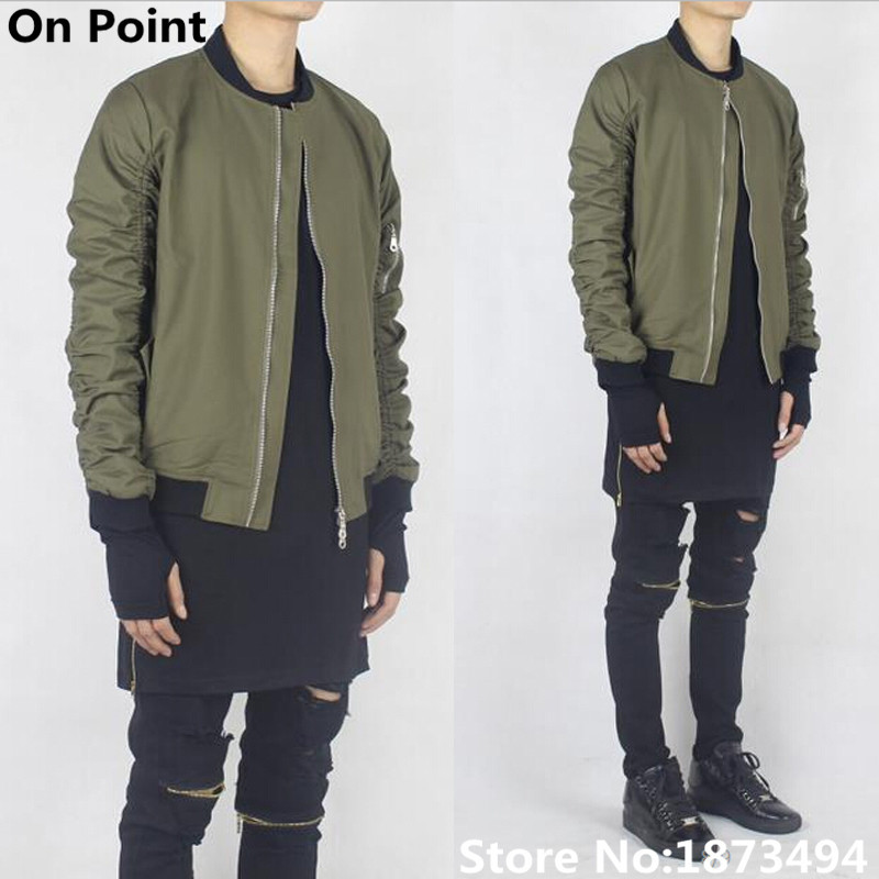 swag mens hip hip designer famous brand olive army green bomber ...
