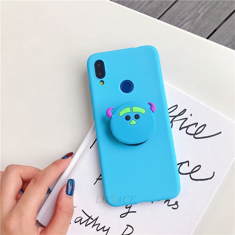 3D Cartoon Silicone Phone Standing Case for Xiaomi And Redmi Phones 21