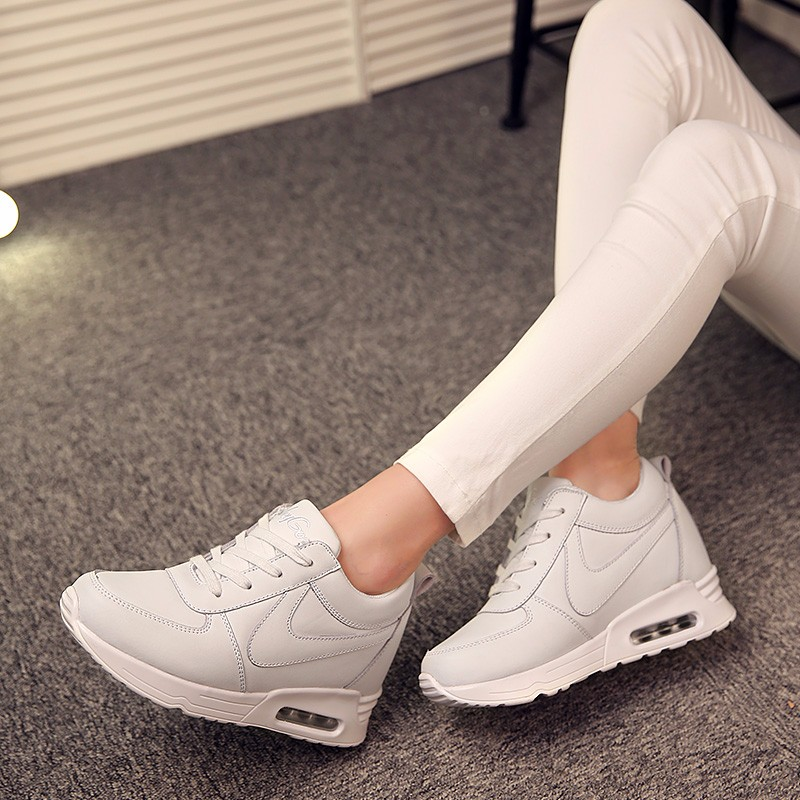 Height Increasing Casual Women Shoes 2016 Fashion Autumn PU Leather High Top Wedges Casual Shoes Lace Up Ladies Shoes YD139 (28)