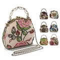 Chinese Vintage Style Moonflower Beaded Bag Old Shanghai Handbags Cheongsam Matched Bag Lady Dinner Bags BS88