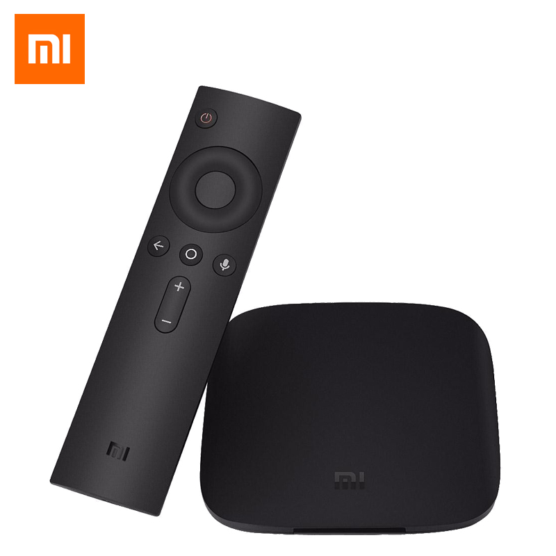 Original Xiaomi MI TV BOX 3 Smart 4K Quad Core HD 2G/8G Android 6.0 WiFi Google Cast Netflix Red Bull Media Player Set-top Box цена