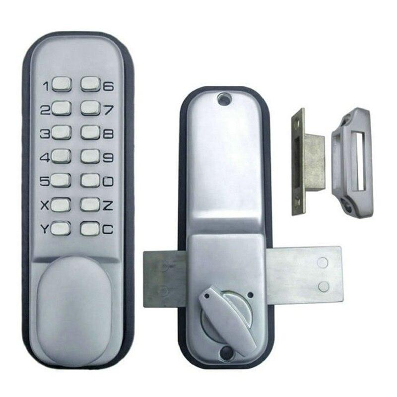 Mechanical Password Door Lock Keyless Digital Code Push Button Waterproof Zinc Alloy No Power Furniture Hardware