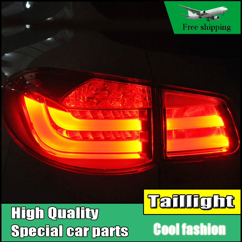 Car Styling for Volkswagen VW Tiguan Tail Lights 2010 2011 2012 LED Tail Light Rear Lamp Driving+Brake+Park+Signal Light jgrt car styling for vw tiguan taillights 2010 2012 tiguan led tail lamp rear lamp led fog light for 1pair 4pcs