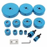 Blue Hole Saw Cutting Set Kit Tool 19 127mm Wood Metal Alloys Carbon Steel Cutting Circular