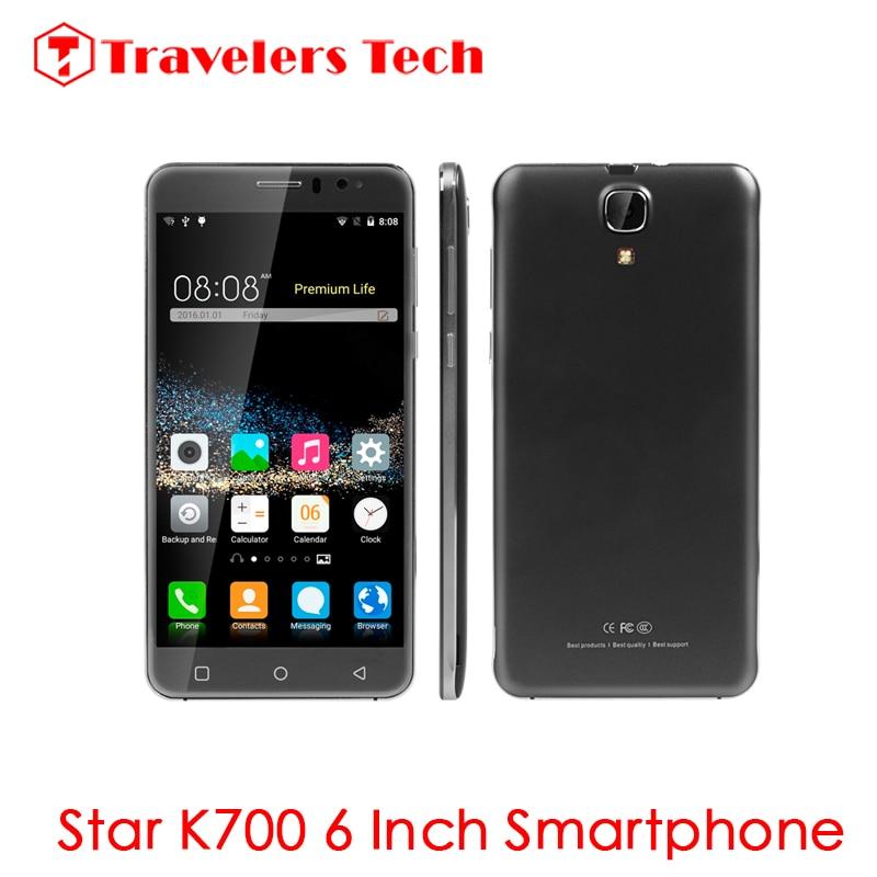 bilder für 6 zoll 3G Smartphone Stern K700 Quad Core 1 GB RAM 8 GB ROM Metallrahmen 3000 mah Batterie Dual-sim-karte 5MP Kamera PK HINWEIS S