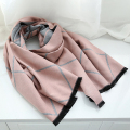 Classical Thick Cashmere Brand Plaid Scarf Women Winter Wool Checks Hijab Blanket Wrap Femme New [2199]