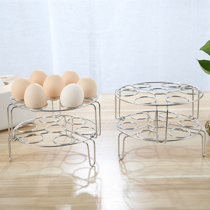 7 Hole Stainless Steel Egg Steamer Rack Trivet For Instant Pot Pressure Cooker