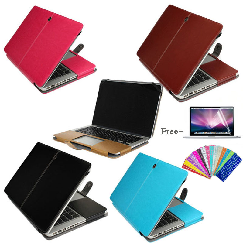 PU Leather Case Cover for MacBook Air 11.6 A1465 A1370 Laptop Sleeve Case for macbook 12 A153+free Screen Film and keyboard skin