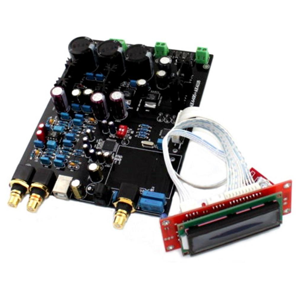 DAC Assembled AK4495SEQ+AK4118+AD827 Decoder Board AC15V-0-AC15V w/ Digital Filter