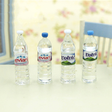 5Pcs 1/12 Dollhouse Miniature Accessories Mini Mineral Water Bottle Simulation  Drinks Model Toys for Doll House Decoration