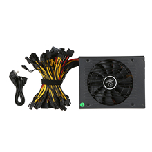 1650W 90% efficiency ATX12V V2.31 ETH Coin Mining Miner Power Supply Active PFC Power Supply Support 6 graphics cards for bitman