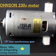 Джонсон 230 В мотор шпинделя 10000 об/мин 100 Вт, высокоскоростная скамья дрель, шлифовальный гравировальный станок 220 В мотор