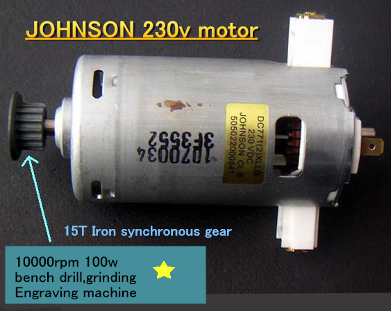 JOHNSON 230v Spindle <font><b>motor</b></font> 10000rpm 100w,High speed bench drill,grinding Engraving machine <font><b>220V</b></font> <font><b>motor</b></font> image