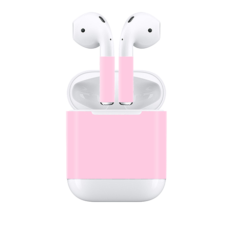 Newest skin sticker pink color for Apple Airpods with practical price and good quality