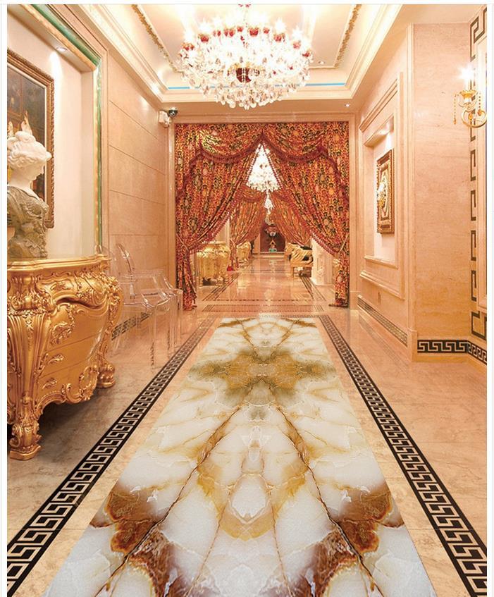 Custom Photo self-adhesive 3D floor Waterproof floor mural painting 3d floor wallpapers marble  3D PVC floor wallpaper