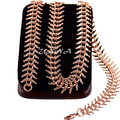 1 шт. Мода Мужчины Женщины Розового Золота Заполненные Ожерелье Extender Цепи Ювелирных Изделий Мульти Длина E195
