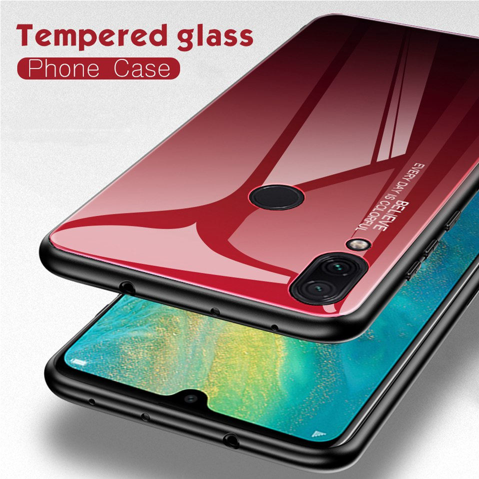 Tempered Glass Case For Xiaomi Redmi K20 Note 5 6 7 Pro 6A Cover Luxury Phone Xiomi Case For Xiaomi Mi 8 A2 Lite Redmi 5 Plus Coque (3)