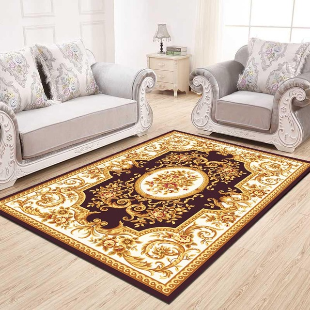 European Style Rectangle Carpet For Living Room Big Area Decoration Delectable Carpets For Bedroom