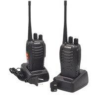 שתי דרך רדיו 2Sets BF888S מכשיר קשר תחנת כף יד FM משדר UHF שתי דרך הרדיו BF 888S Ham Communicator HF CB רדיו Baofeng BF888S (2)