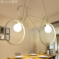 Retro Bicycle Decorate Pendant Lights Modern Pendant Lamp Living Dining Room Iron Luminaria Industrial Lamp Loft Decor Fixture
