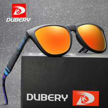 DUBERY Vintage Sunglasses Polarized Men's Sun Glasses For Men UV400 Shades Driving Black Square Oculos Male Shades D181