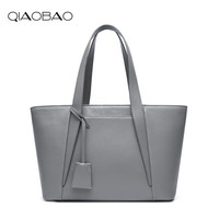 QIAOBAO מותג אופנה באיכות גבוהה תיק כתף נשית תיק גבירותיי tote תיק עור אמיתי עבור עבודה במשרד