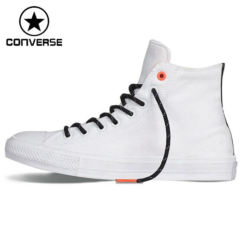 Prix pour Original Nouvelle Arrivée Converse Unisexe High top Planche À Roulettes Chaussures Toile Sneakers