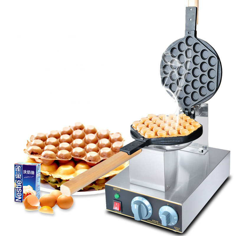 Best professional electric Chinese Hong Kong eggettes puff waffle iron maker machine bubble egg cake oven 220-240V 220v 110v bubble waffle maker digital electric chinese hong kong eggettes puff waffle iron maker machine bubble egg cake oven