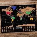 С трубкой  постер на стену  карта мира  украшение для дома  гостиной  покраска Для отметки вашего путешествия  40х55см