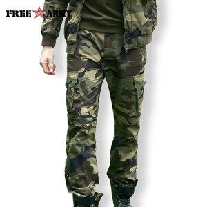 Image 1 - Freearmy marca cidade tático calças dos homens carga militar calças camo algodão muitos bolsos estiramento flexível homem casual 6xl