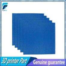 5 adet 3D Yazıcı Isıtma Yatak Mavi Yüksek sıcaklık Bant Kauçuk Yapıştırıcı Malzeme Kağıt ile 300*300mm