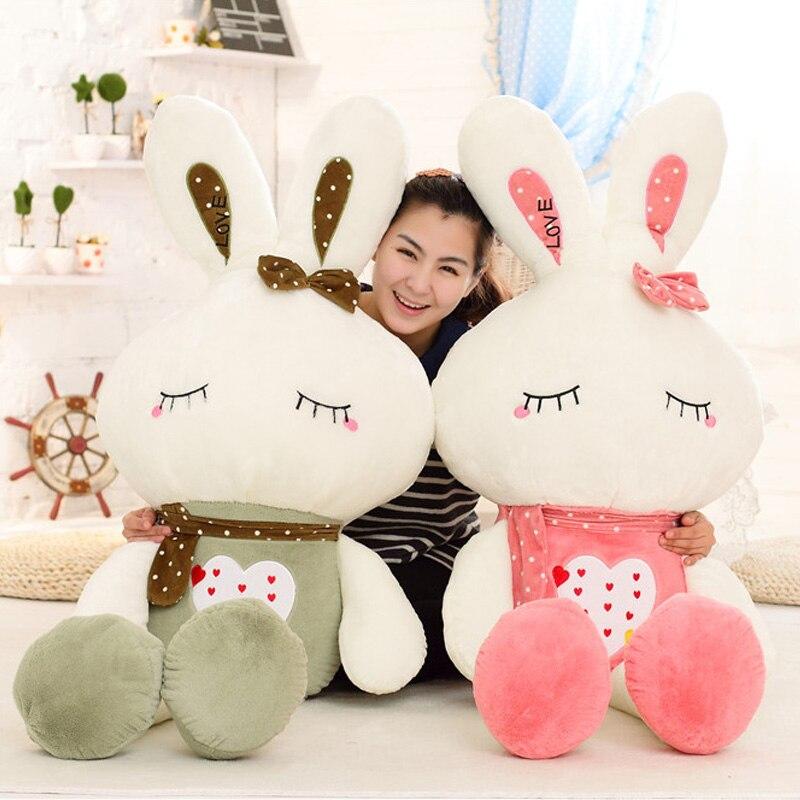 цена на Cute little rabbit rabbit plush toys large bunny rabbit doll birthday gift pequeno principe