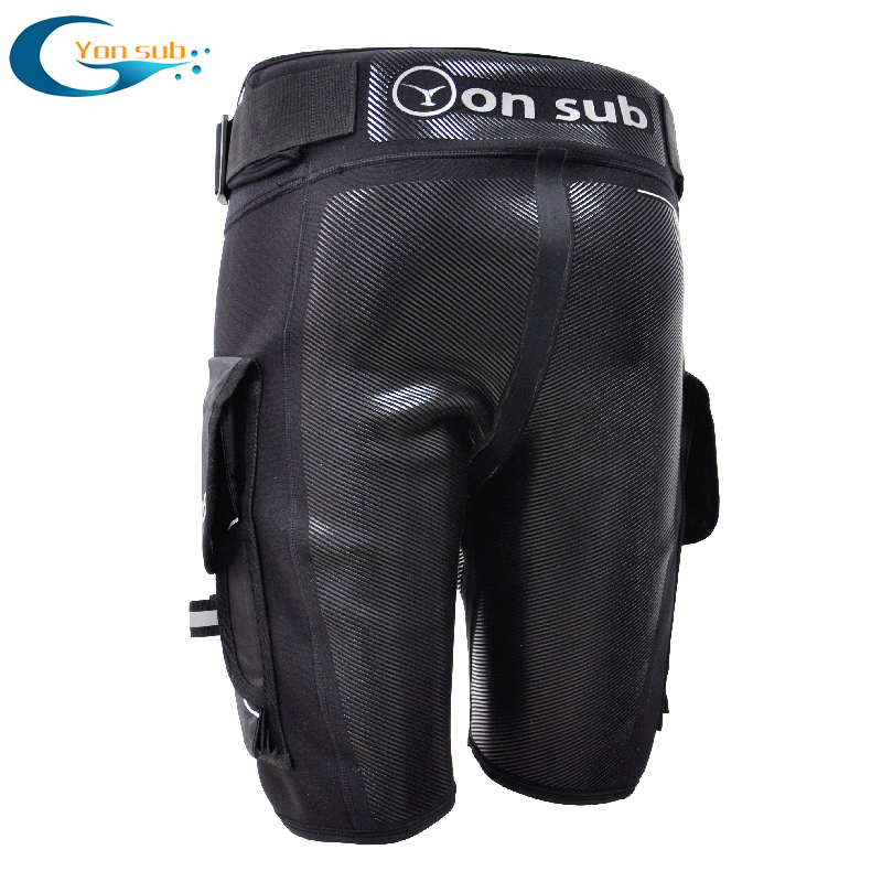 YONSUB Diving Neoprene Wetsuit Tech Shorts Men Submersible D ring Short Pants Protective rubber prints Surf