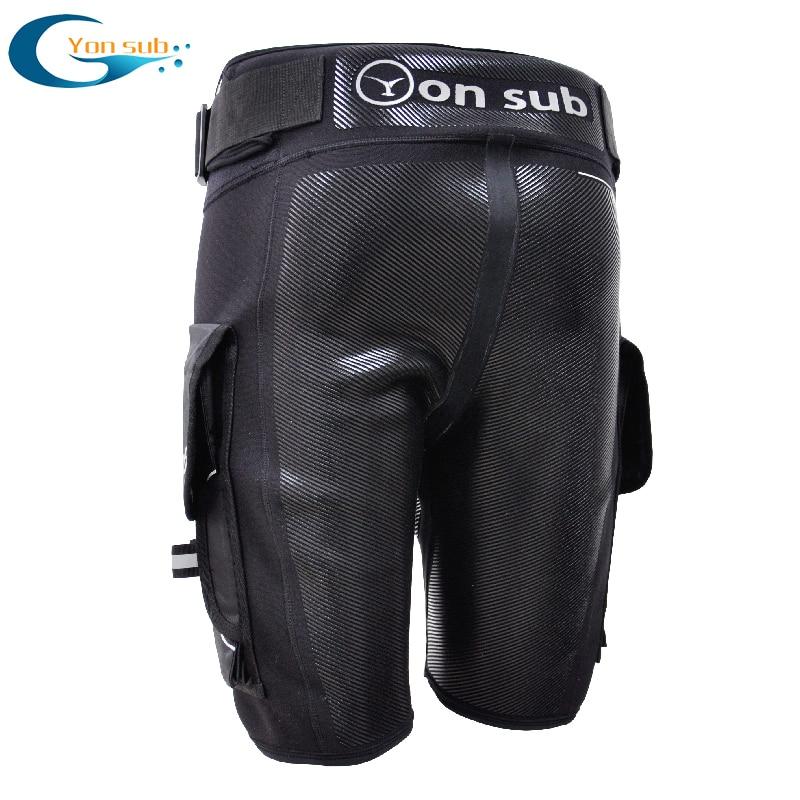 YONSUB plongée néoprène combinaison Tech Shorts hommes Submersible D anneau court pantalon de protection caoutchouc imprime Surf équipement de plongée en apnée