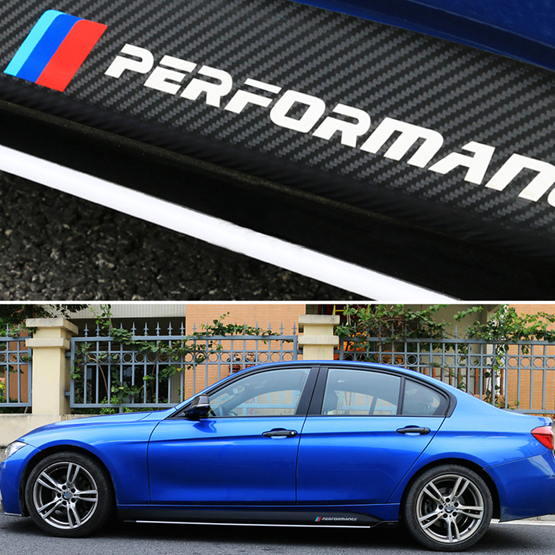 Car Styling Sticker Body Decals M Performance For BMW 3 Series F30 320i 316i 328i BMW 4 Series F32 F33 For BMW 5 Series E60 E61 3d abs car styling power m performance 520d 525d 528d 530d 535d 550d car rear sticker for bmw 3 series 5 series 7 series