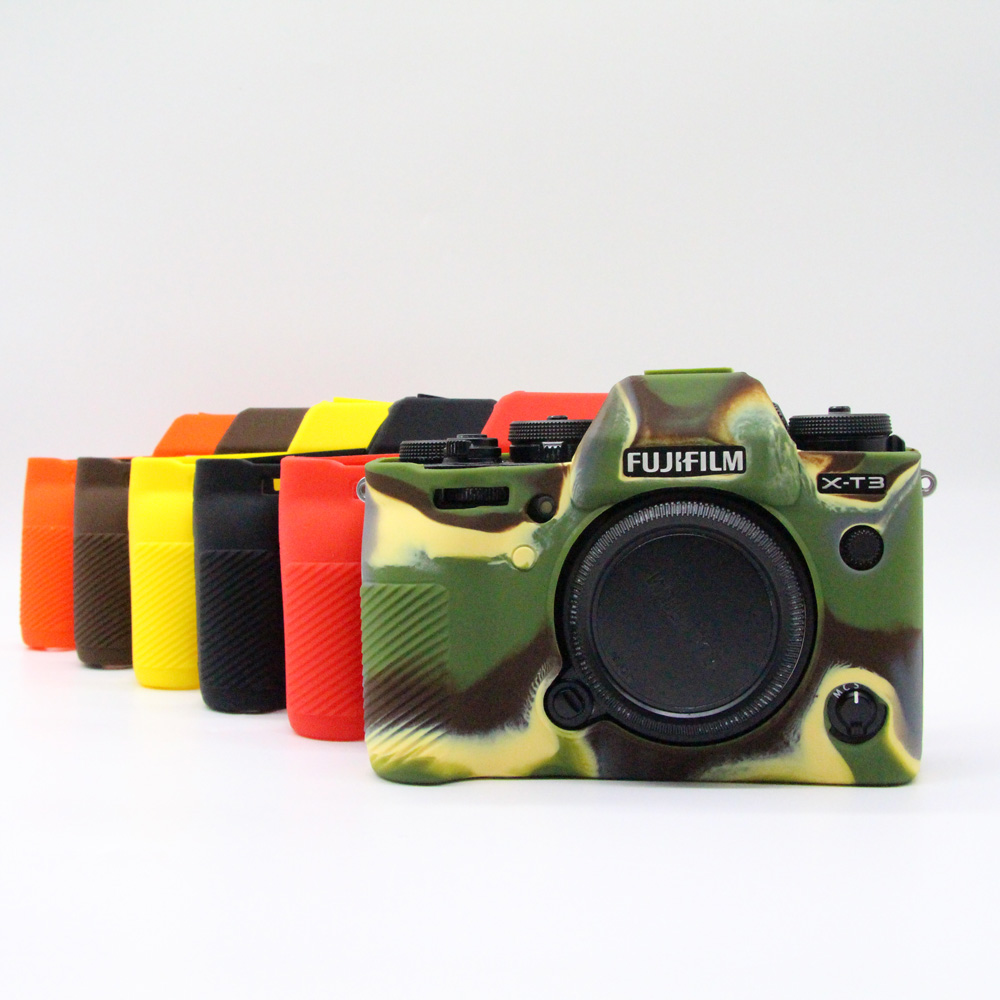 Soft Silicone Camera Protector <font><b>Case</b></font> for Fuji <font><b>Fujifilm</b></font> <font><b>X</b></font>-<font><b>T3</b></font> <font><b>X</b></font>-<font><b>T3</b></font> Body Rubber Cover Mirrorless System Camera Skin image
