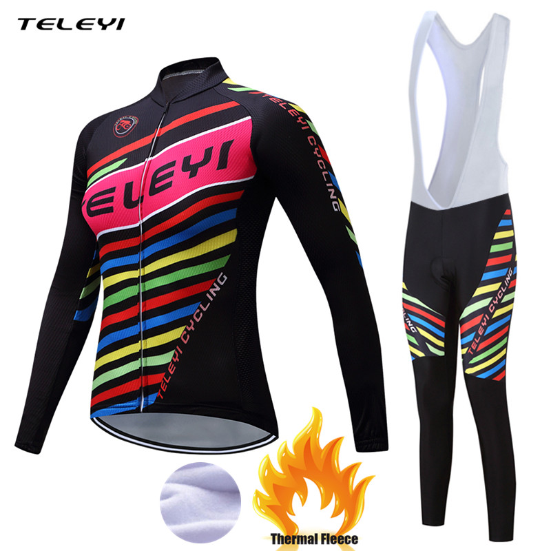 Teleyi 2017 Women Winter Thermal Fleece Cycling Clothing Pro Bike Clothes Wear MTB Bicycle Jersey Set Maillot Ropa Ciclismo Sets teleyi 2017 women winter thermal fleece cycling clothing pro bike clothes wear mtb bicycle jersey set maillot ropa ciclismo sets