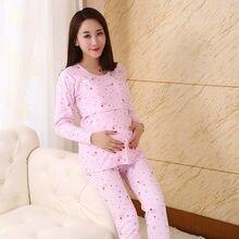 950f85177 2018 primavera algodón maternidad ropa embarazo camisón dormir de lactancia  materna para las mujeres embarazadas enfermería